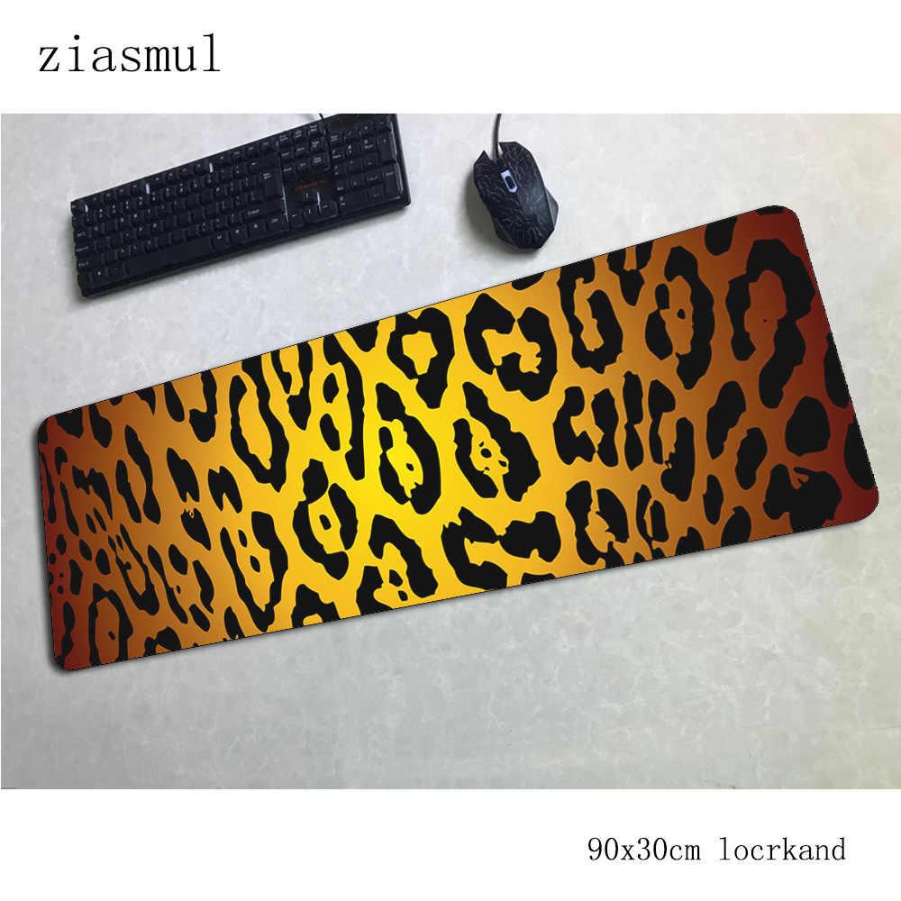 cheetah print padmouse 900x300x3mm gaming mousepad game esports mouse pad gamer computer desk locked edge mat notbook mousemat