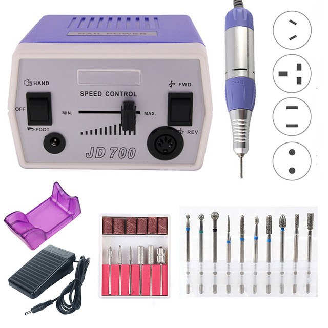 Pro 35W 40000RPM Electric Nail Drill Machine Manicure Set Pedicure Tips Strong Nail Gel Remover Equipment Polishing Tools Kit