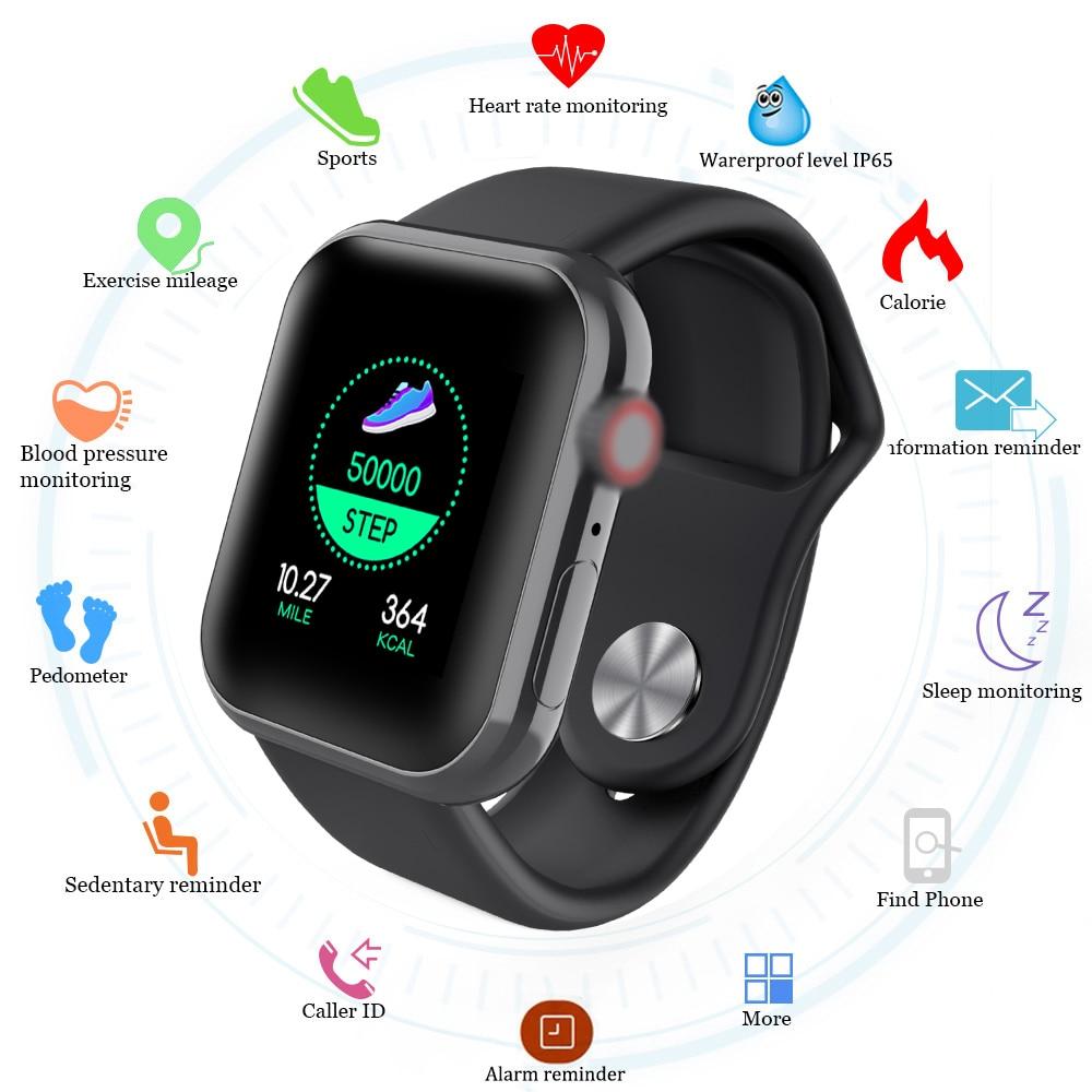D20 Smart Watches Men Waterproof Sports Fitness Bracelet Sleep Tracker Heart Rate Monitor Blood Pressure Bluetooth SmartBand