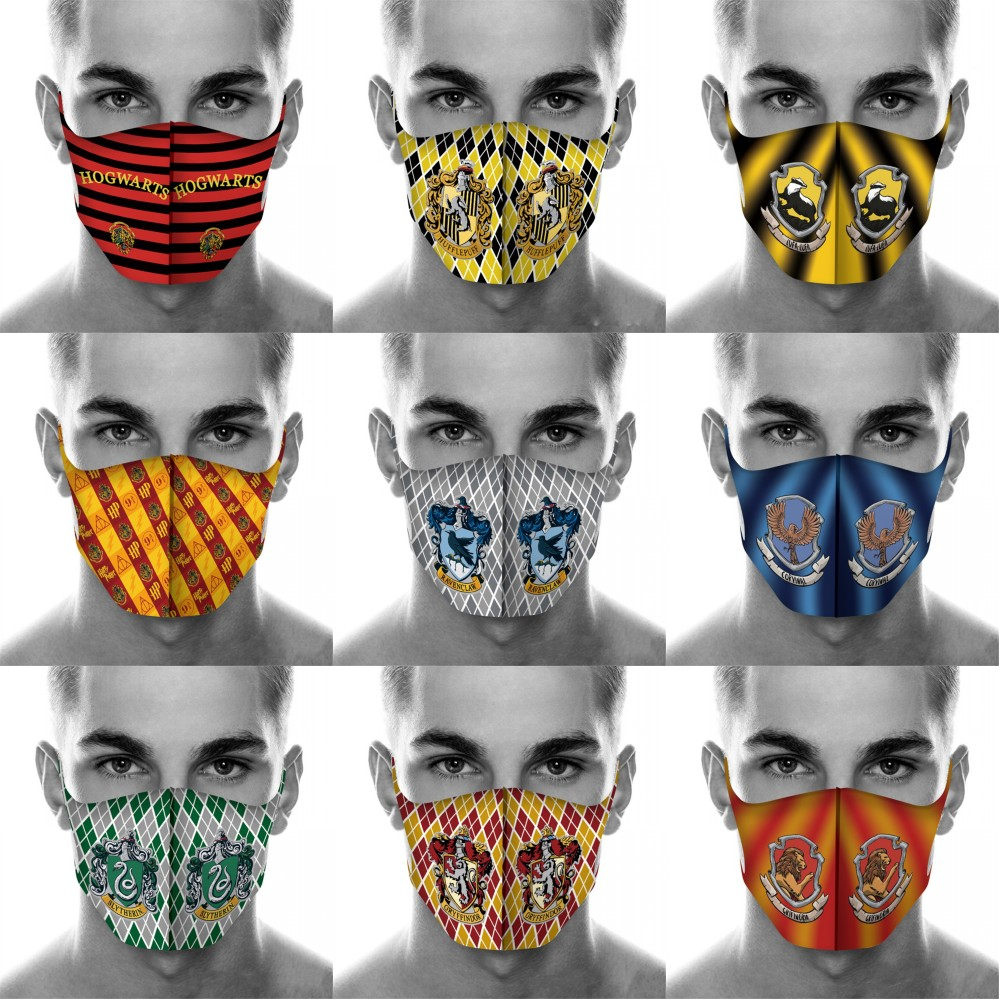 Full Printed H.Potter Mouth Mask Breathable Face Mask Reusable Anti Pollution Wind Proof Mouth Cover