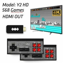 The Retro Stick - Data 4K USB Wireless Handheld TV Video Game Smooth lines simple design support two players wireless controller(China)