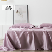 Lofuka Women Light Purple 100% Silk Flat Sheet Nature Silk Beauty Queen King Bed Sheet Fitted Sheet Pillowcase For Deep Sleep lofuka women light purple 100% silk flat sheet nature silk beauty queen king bed sheet fitted sheet pillowcase for deep sleep