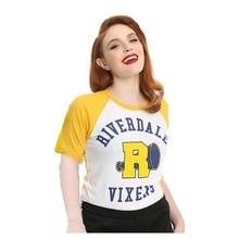 Tops Funny Shirt Tees Snake Printed Harajuku Riverdale Serpents Vintage Female South-Side