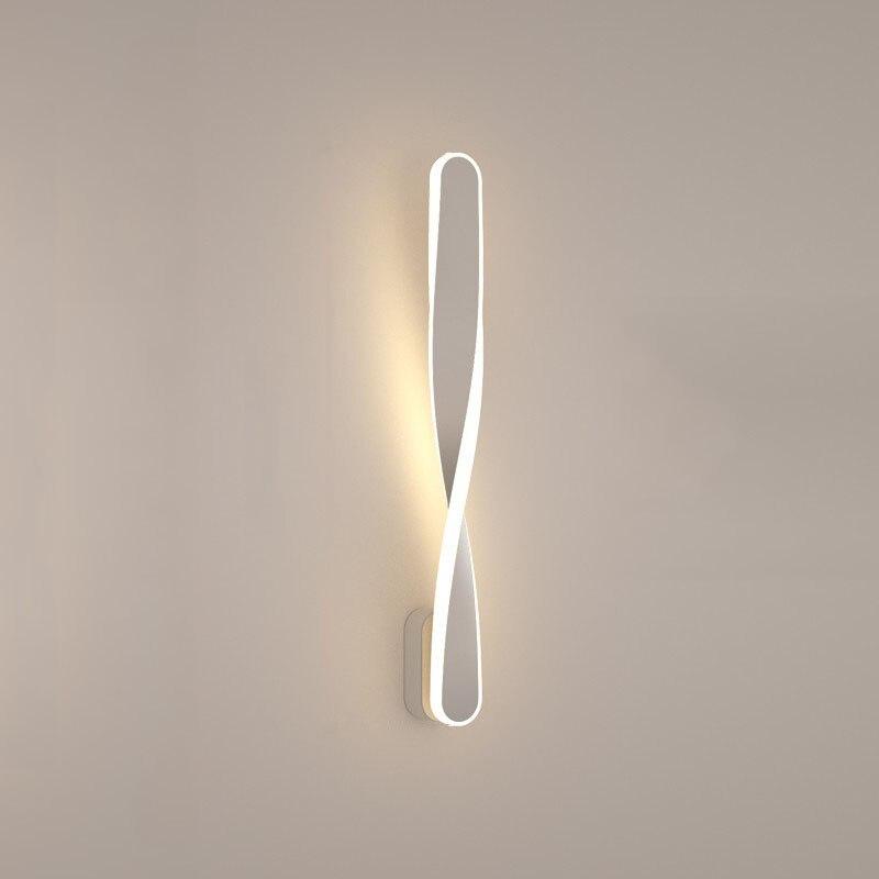lâmpada de parede espiral nórdico moderno