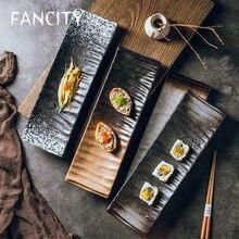 Тарелка для суши fancity тарелка японских боковых блюд прямоугольная