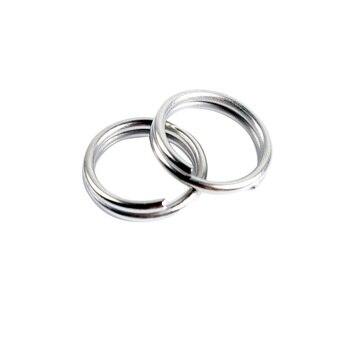 50PCS Dubbele Lus Split Ringen voor Lokken Verbinding Vissen Linking Cirkels Roestvrij Staal