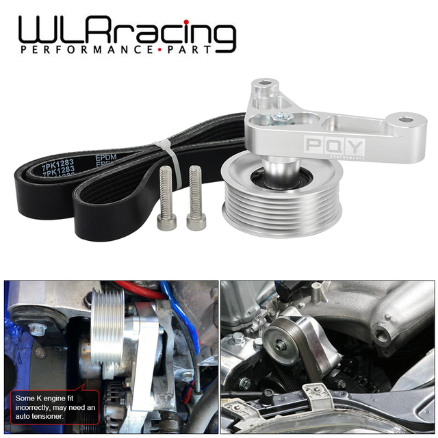 Kit de polea WLR ajustable EP3 para motores Honda 8th 9th Civic All K20 & K24 con tensor automático que mantiene instalado WLR CPY01 A/C