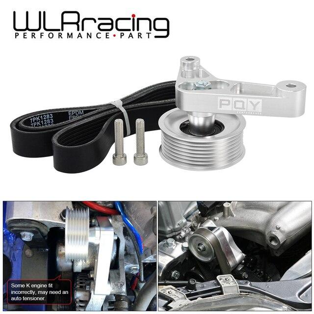 WLR ayarlanabilir EP3 kasnak Honda 8th 9th Civic tüm K20 ve K24 motorlar otomatik gergi tutmak A/C yüklü WLR CPY01