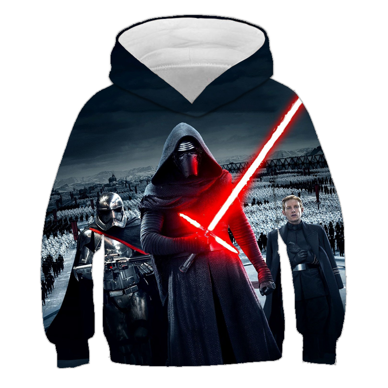 Hot New Products Star Wars Hoodie 3D Print Design Jongens Meisje Sweatshirt Casual Kinderen Sportkleding Mode Skywalker Jas