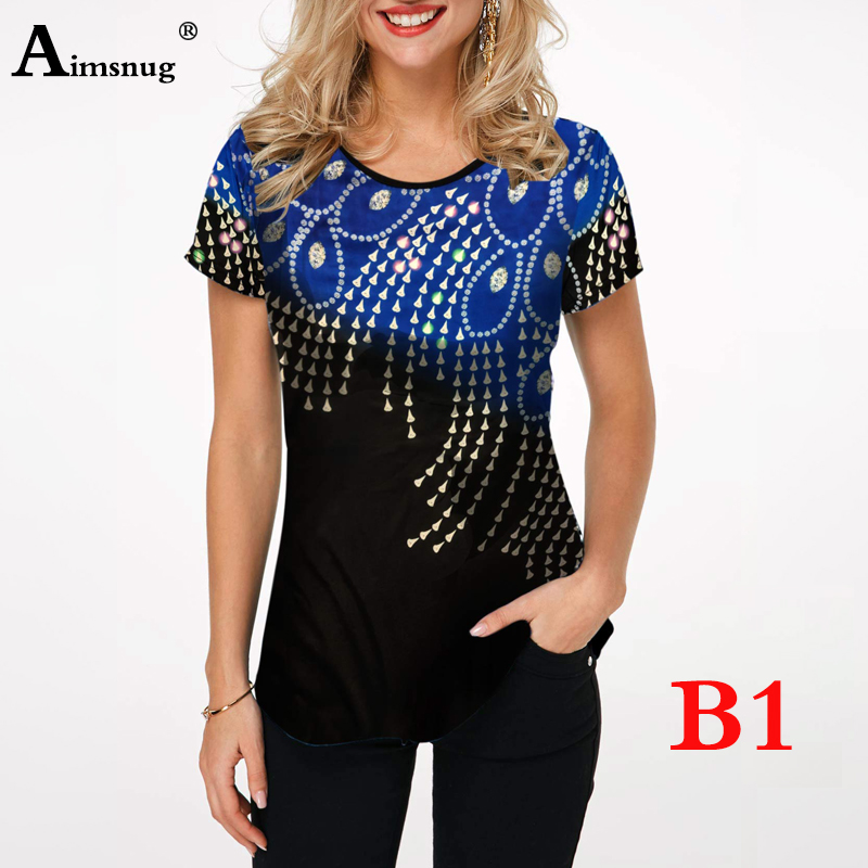 H1449c1d0cd814c25b786c7651f7b7236P - Plus size 4xl 5xl Women Fashion Print Tops Round Neck Short Sleeve Boho Tee shirts New Summer Female Casual Loose T-shirt