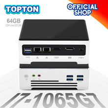 Topton Cheap Mini Pc Intel Core i5-1035G4 i7-7820HQ Iris Plus Graphics 940 Pocket Computer Dual Band AC WiFi Bluetooth 4K Nuc Pc