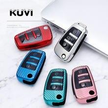 New Soft TPU Folding Chave do Caso Da Tampa Do Carro Para Audi A3 8L 8P A4 B6 B7 B8 A6 C5 C6 4F RS3 Q3 Q7 TT 8L 8V S3 Auto Acessórios Shell
