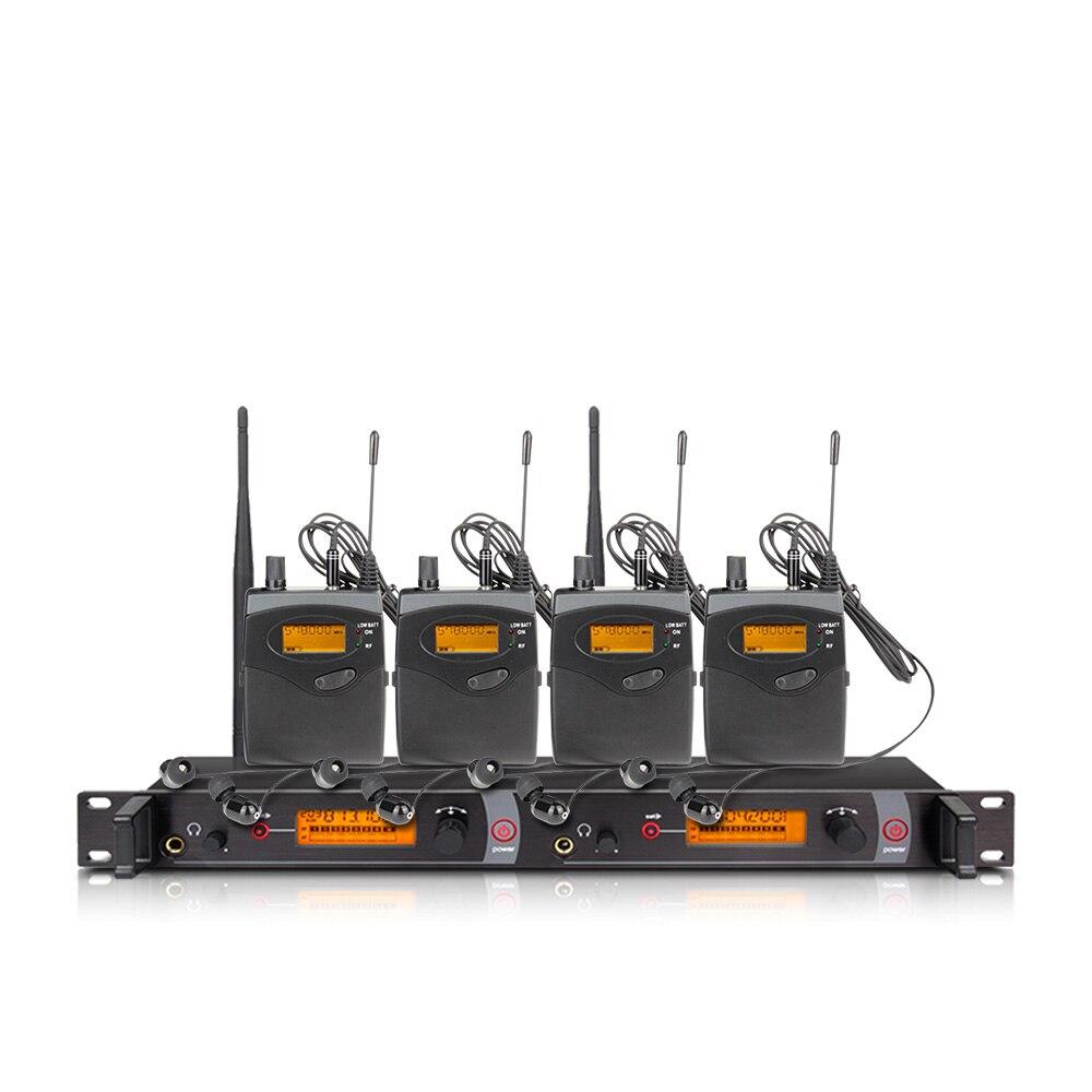 Ohr überwachung wireless system mit 4 empfänger EM2050 bühne monitor ear monitoring system 2 ear monitoring system