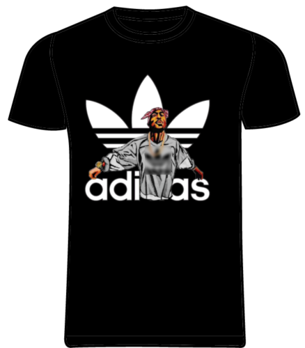 2Pac футболка ADDIDAS TUPAC SHAKUR Rap хип-хоп Футболка Для Взрослых Черная Футболка CLASSIC классическая мужская и женская модная футболка унисекс бесплатная доставка