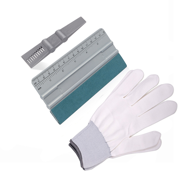 EHDIS Car Wrap Tools Kit Carbon Fiber Big Scale Felt Squeegee Scraper Vinyl Car Wrapping Sticker Nylon Gloves Window Tints Tool