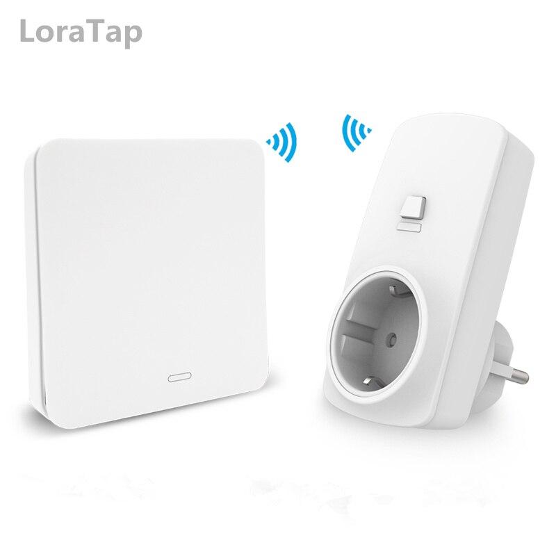 EU Wireless Socket Plug 16A With Remote Control Kinetic Wireless Switch No Battery Needed Eco-friendly No WiFi Easy To Use