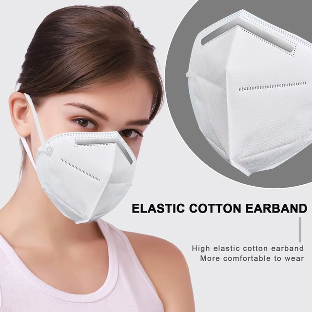Breathable KN95 Respirator Filter Protection Dust Respirator Light And  Breathable  Respirator Fresh 3D Fitting  1 Pcs 2