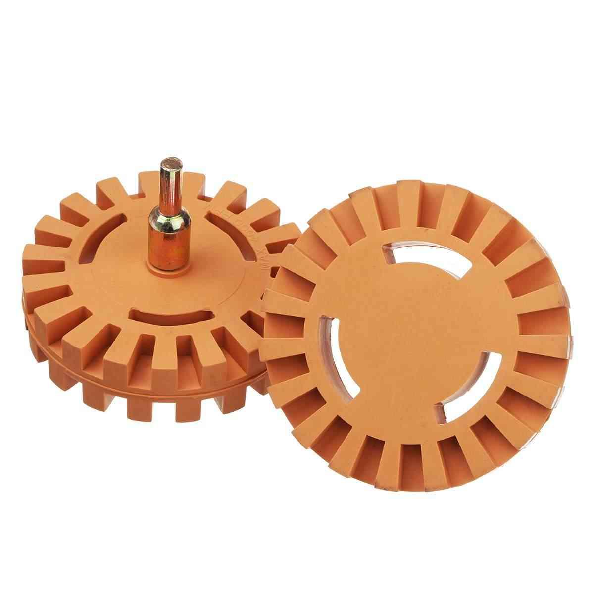 Adaptateur universel de roue à gomme en caoutchouc de 4 pouces | Pour enlever la colle de voiture, autocollant autocollant à rayures graphiques, outil de peinture pour réparation automobile