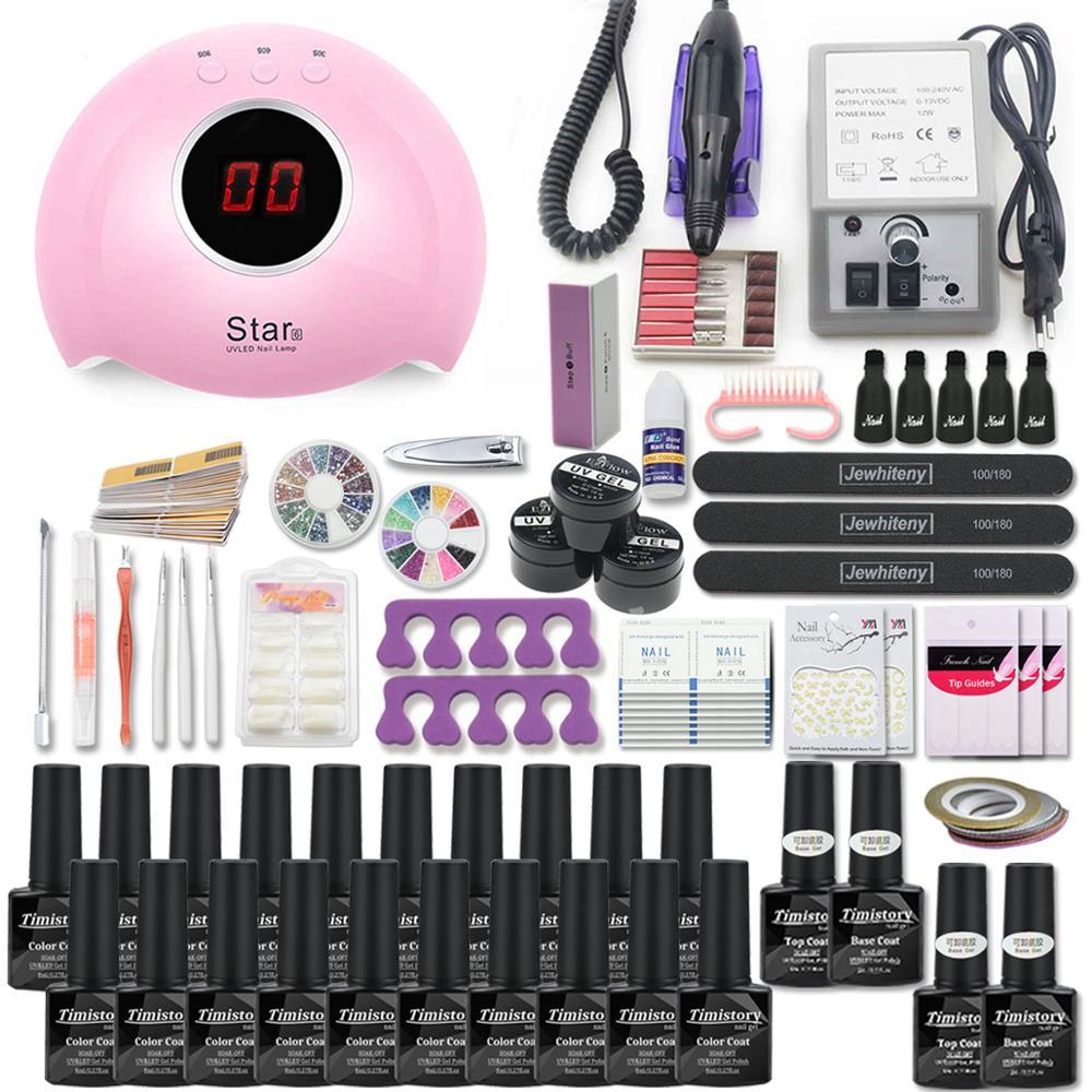 Super Manicure Set for Nail Kit with led Nail lamp 20000RPM Nail drill Machine Nail Polish Kit Acrylic Kit Nail Art Tools Set 3