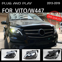 Reflektor dla Benz Vito 2013-2019 samochodów автомобильные товары LED DRL Hella 5 soczewki ksenonowe Hid H7 samochód W447 akcesoria