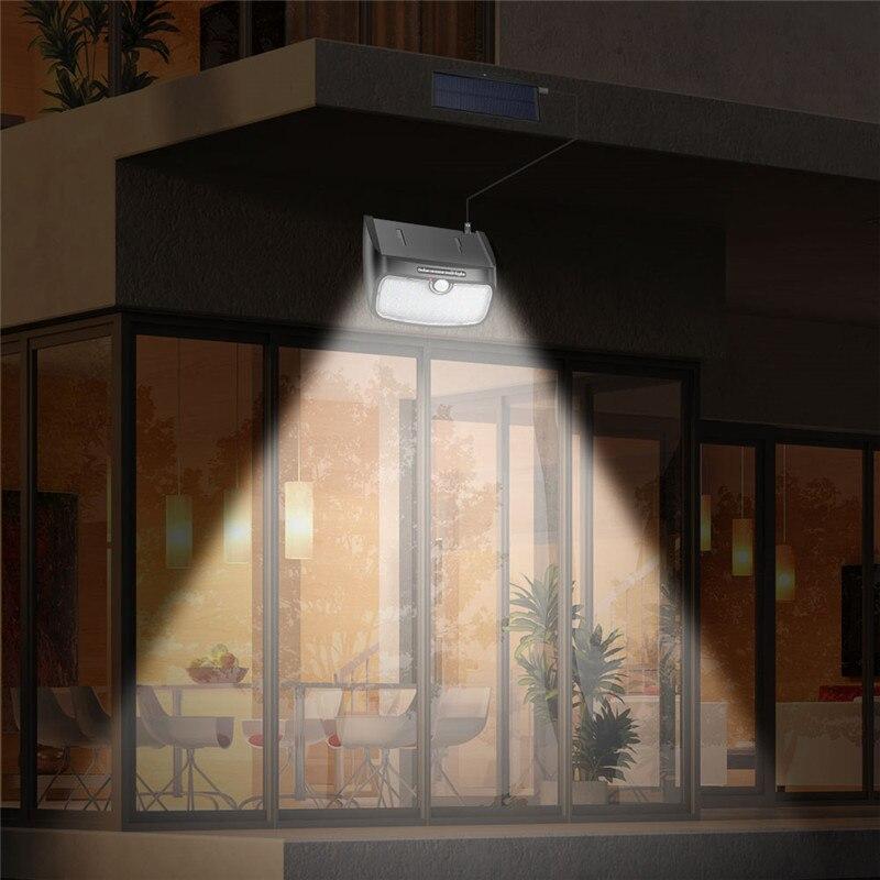 48 led solar lâmpada pir sensor de