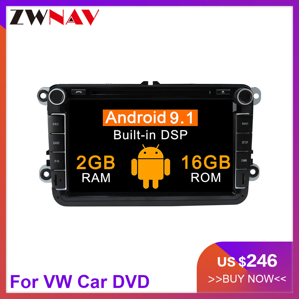 2 Din Car Multimedia Player Android 9 1 Auto Radio For Skoda Seat Volkswagen VW Passat