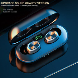 11.11 Sport Portable Earphones Touch Mini Bluetooth Earbuds Wireless Earphones With Mic Digital Power Bank Phone Headsets