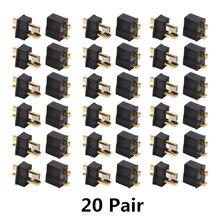 10/20 пара черных мини-разъемов Micro T-Plug, штекер и гнездо для RC LiPo батареи