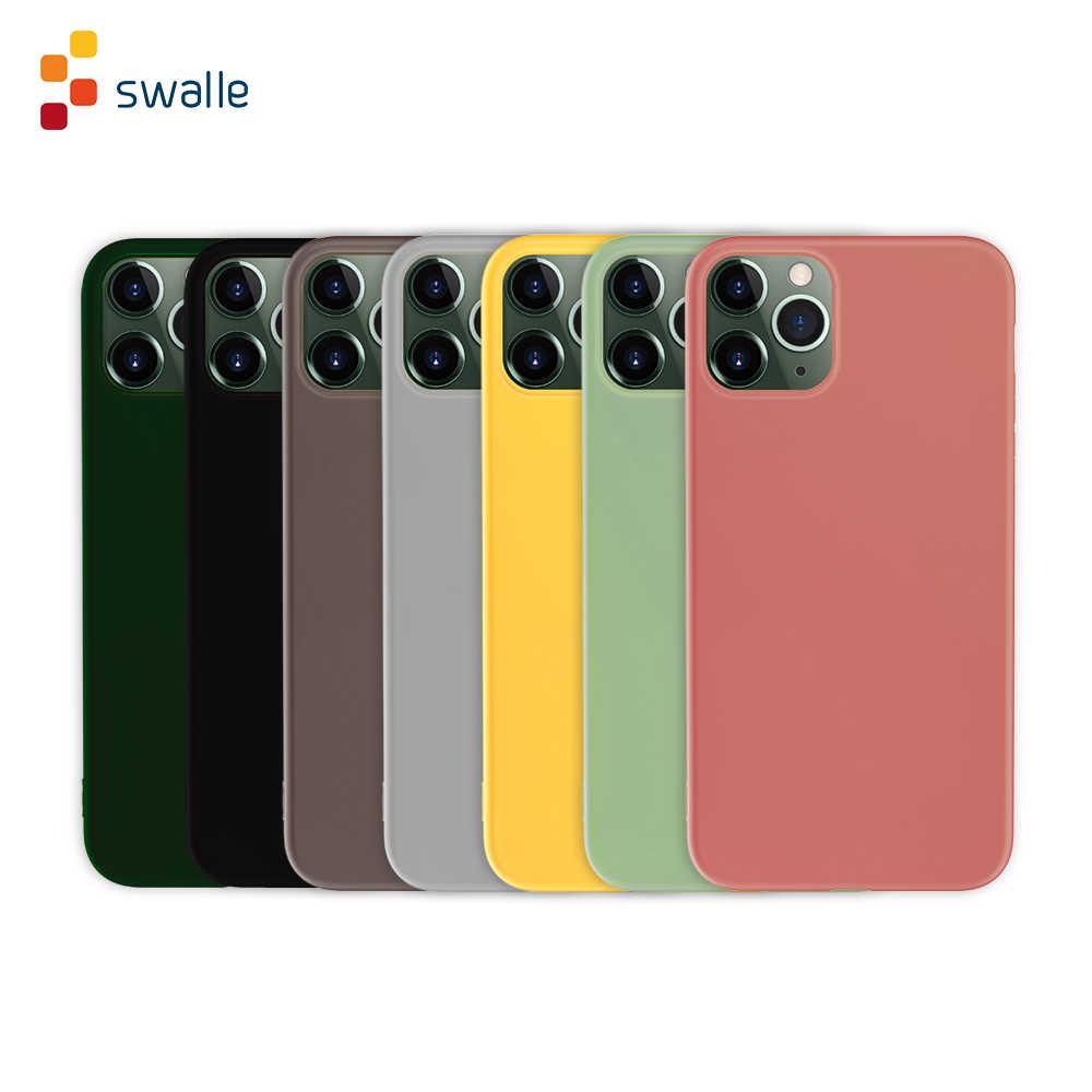 Swalle Stained Bunte Telefon Fall zurück Abdeckung für telefon 7/8/X/11/11 pro/ 11 pro max telefon Silikon Soft shell handy Fall