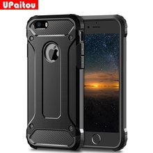 Kasar Lapisan Armor Case untuk iPhone 11 Pro Max 2019 5 S 5 Se 5C 6 6S 7 7G 8 Plus X XR X Max Case Heavy Duty Shockproof Case(China)