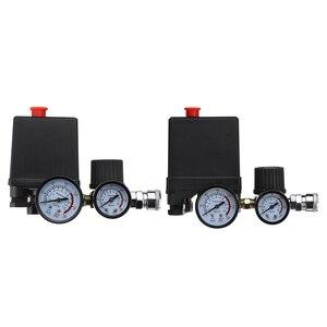 Image 5 - Pompa sprężarki powietrza wyłącznik ciśnieniowy 4 Port 220V/380V Regulator nadmiarowy kolektora 30 120PSI zawór sterujący z manometrem