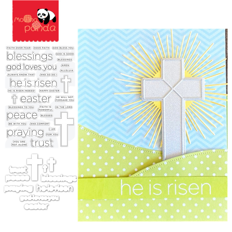 FAITH EASTER Metal Cutting Dies And Stamps For DIY Scrapbooking Photo Album Embossing Paper Cards Crafts Die Cuts