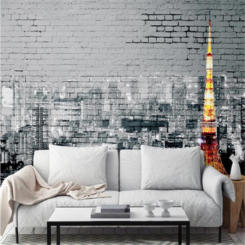 milofi manufacturers custom wallpaper mural 3d nordic city tower brick background wallpaper mural wallpaper city guide milan 2014