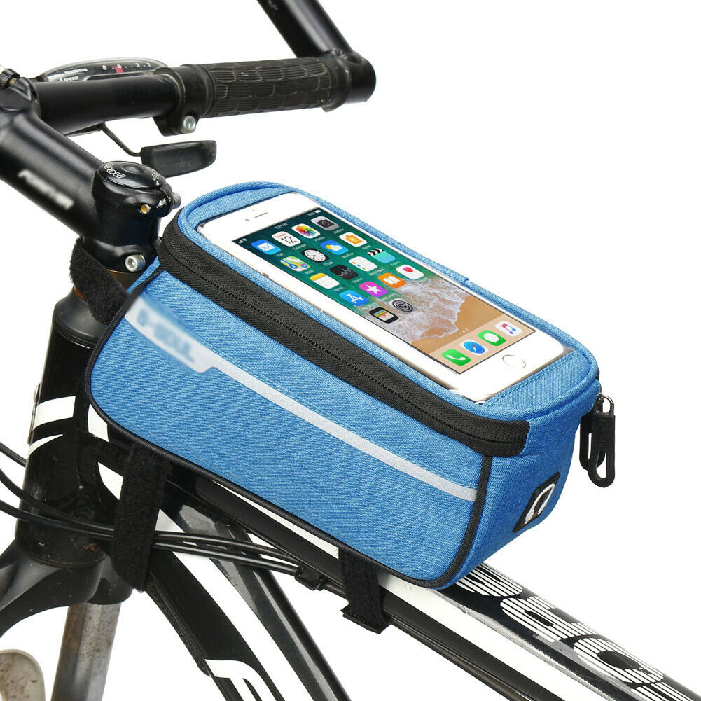 Travel Accessories Cycling Frame Pannier Front Tube Bag For Cell Phone Bike Touch Screen Rainproof