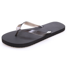 Summer Men Slippers Fashion Simple Outdoor Men Flip-flops Beach Flat sole Non-slip Male Shoes Rubber Basic Sandals
