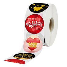 500pcs/ Roll Valentine's Day Label Sticker Packing Stickers Gift Bouquet Decal