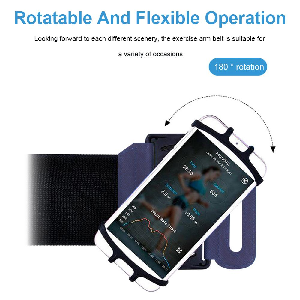 Sports Running Wristband Mobile Phone Case Universal 180-Degree Rotating Sports Phone Holder Outdoor Sports Phone Wristband