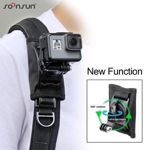 Image 1 - SOONSUN 360 Degree Rotation Adjustable Backpack Shoulder Strap Belt Mount for GoPro Hero 9 8 7 6 5 for DJI Osmo Action Accessory