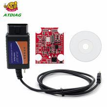 ELM327 USB V1.5 modificado para Ford ELMconfig Forscan CH340 + 25K80 chip HS-CAN/MS-CAN Frete Grátis