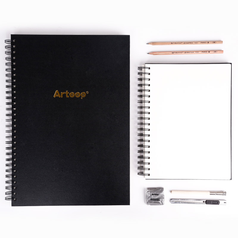 ZHONGSHENG Drawing Sets Love Tu Sketchpad Drawing Book Blank Sketch Book Painted Color Lead This 16K Fine Art Book