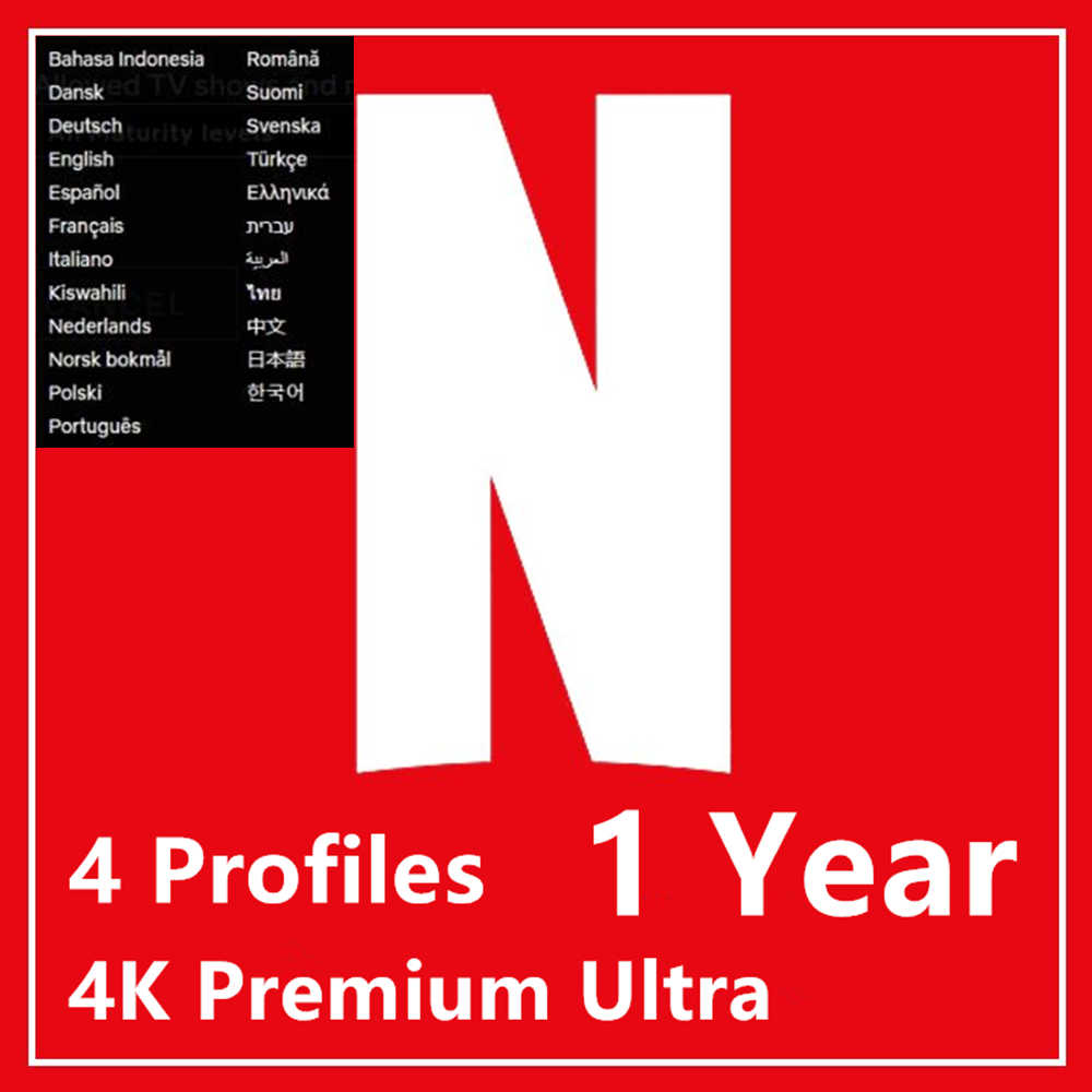 Original Neflix Account 1 month Netflix 4K Premium Ultra HD