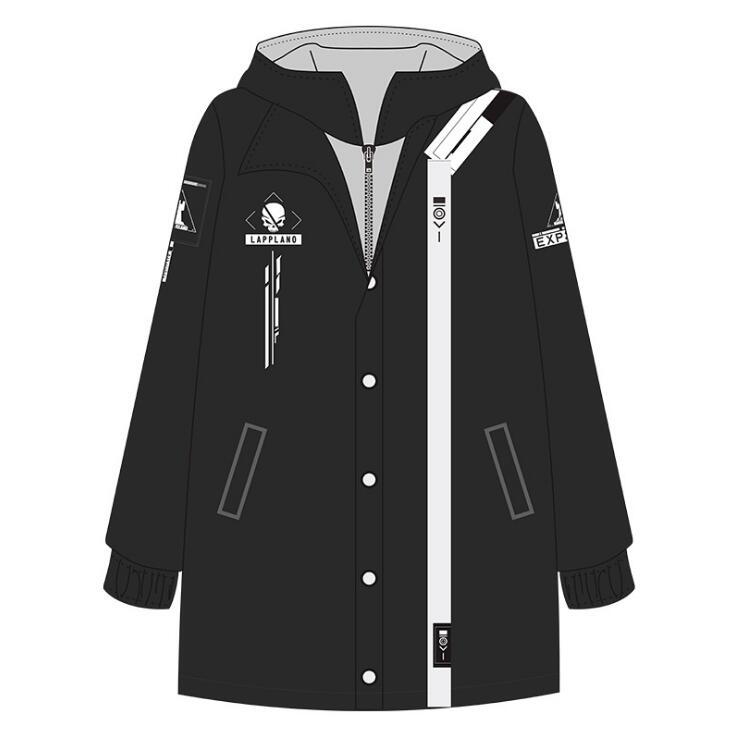Anime Game Arknights Lappland Cosplay Autumn Winter Men Women Student Thicken Zipper Sweatshirt Coat Windbreaker Overcoat