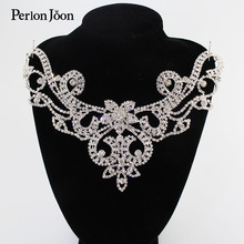 Patch-Rhinestone-Collar Wedding-Dress Clothing-Accessories Hand-Sewing Flashing for The