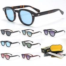 Johnny Depp LEMTOSH Polarized Sunglasses Men UV400 Retro Acetate Frame Sun Glasses Brand Designer For Male Eyewear