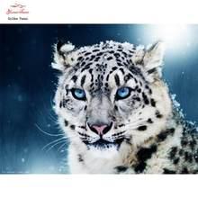Leopardo animal completo quadrado diamante bordado Pintura diamante mosaico casa decorao kits de ponto cruz artesanal