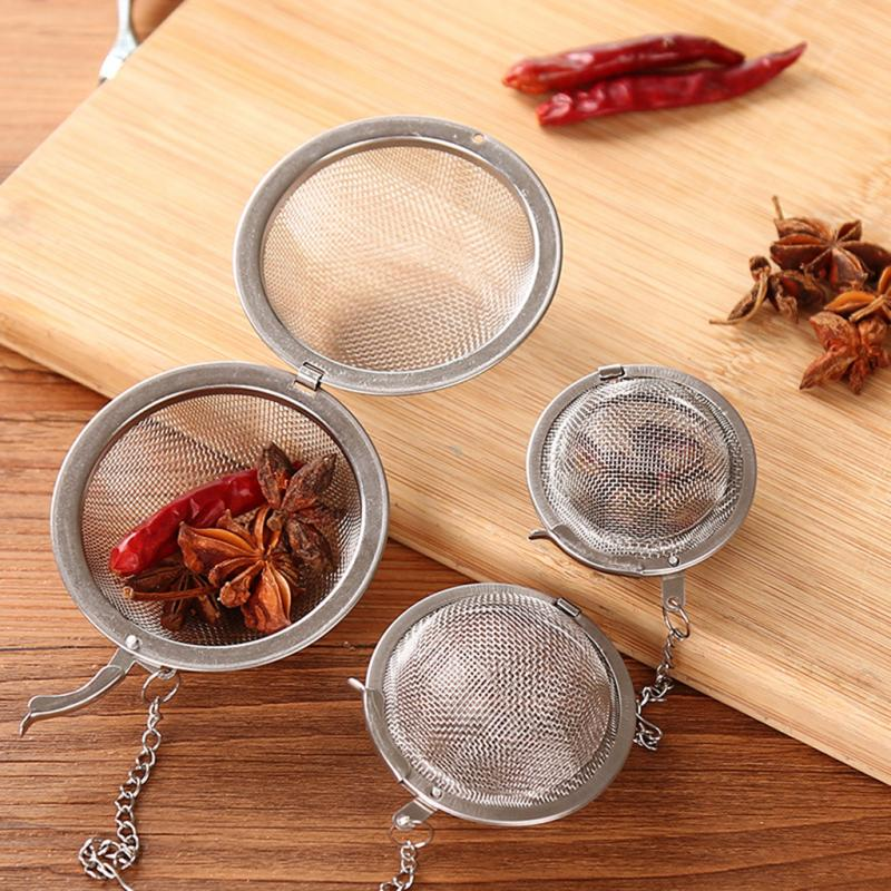 3 Size Optional Stainless Steel Seasoning Ball Coffee Tea Bag Spice Filter Diffuser Tea Infuser Tea Leak Kitchen Cooking Gadget