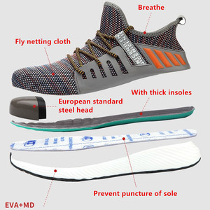 Image 2 - Safety Work Shoes Construction Men Outdoor Steel Toe Cap Shoes Men Puncture Proof High Quality Lightweight Safety Boots