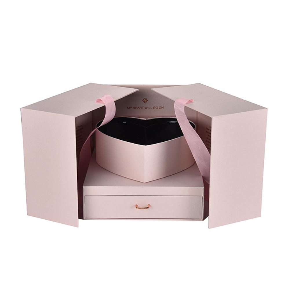 Flower Gift Box DIY Cube Shape Gift Box Birthday Anniversary Wedding Valentine's Day Surprise Gift Box Flower Packing Box