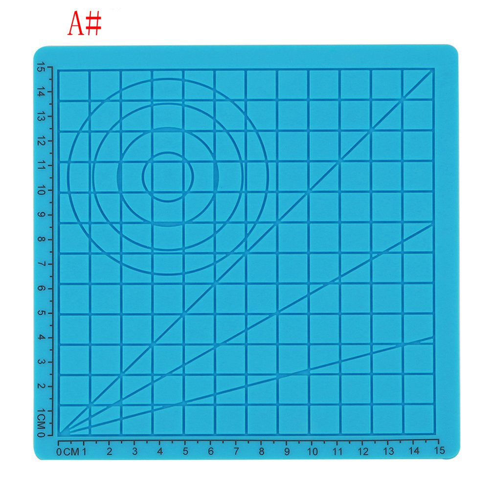 3D Printing Pen Accessories Green Children's Puzzle Drawing Board Silicone Mat Kids Educational With 2 Finger Caps #0115
