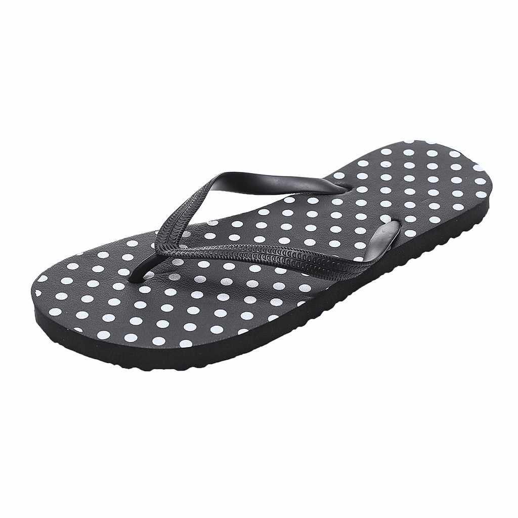 Vrouwen Strand Slippers Voor Gilrs Zomer Dot Patroon Strand Schoenen Vrouw Slippers Antislip Slipper Casual Schoenen dropshipping